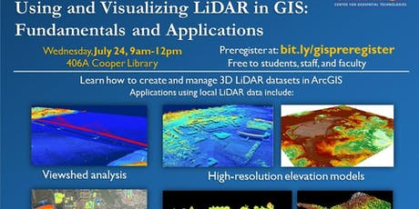 Using and Visualizing LiDAR in GIS: Fundamentals tickets