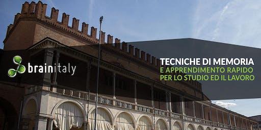 Faenza: Corso gratuito di memoria