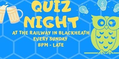 Sunday Quiz Night at The Railway, Blackheath