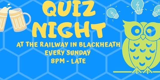 Sunday Quiz Night at The Railway, Blackheath