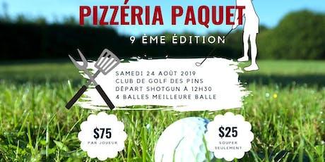 Tournoi de golf des Pizzéria Paquet billets