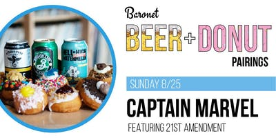 Captain Marvel - Beer + Donut Pairing