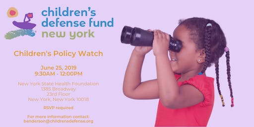 Children's Policy Watch: A Review of the 2019 NYS Legislative Session