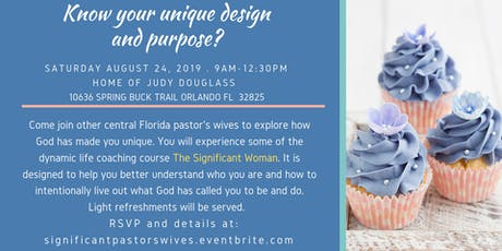 Pastor's wives Significance event tickets
