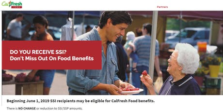 Expanding CalFresh to SSI Recipients All Stakeholder Implementation Mtg #7 tickets