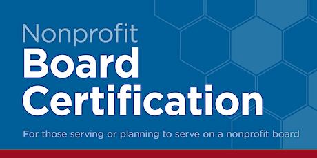 Nonprofit Board Certification tickets