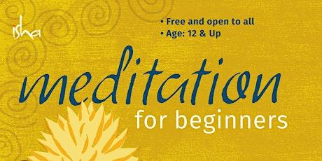 Meditation for Beginners - Isha Kriya Yoga tickets