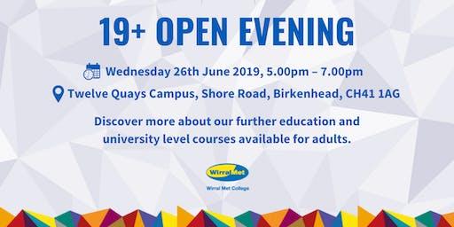 19+ Open Evening 2019