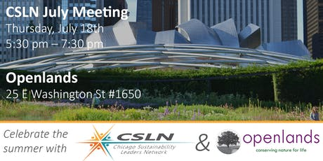 Chicago Sustainability Leaders Network July Meeting tickets