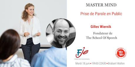 Master Mind - Prise de Parole en Public - Brabant Wallon billets