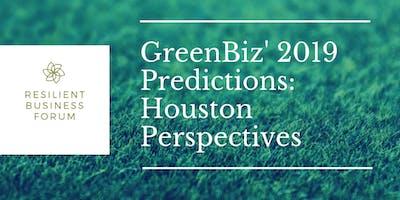 GreenBiz' 2019 Predictions: Houston Perspectives