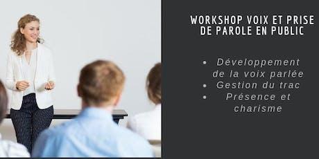 Workshop Voix et prise de parole en public billets