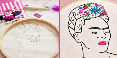 Frida Kahlo Hand Embroidery Workshop