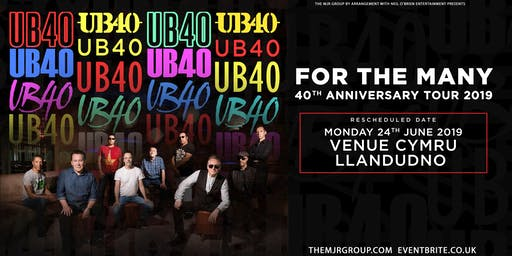 "UB40 - 40th Anniversary Tour ""For The Many"" (Venue Cymru, Llandudno)"