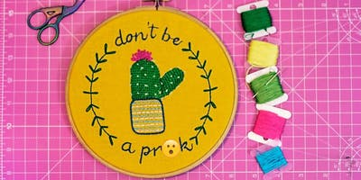 Cactus Embroidery Workshop