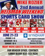 2019 Houston Sports Collectibles Show tickets