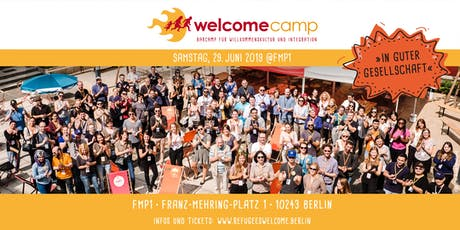 "WelcomeCamp 2019 ""In guter Gesellschaft"" Tickets"