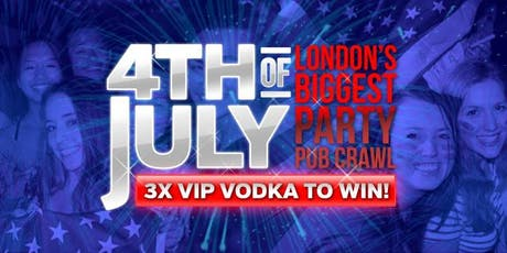 4th July Bar Crawl + USA End Party tickets