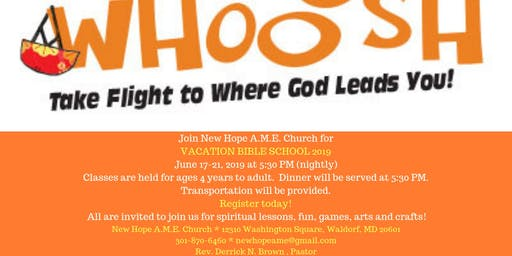 New Hope AME Vacation Bible School 2019