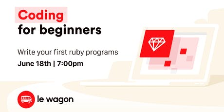 Coding for Beginners bilhetes