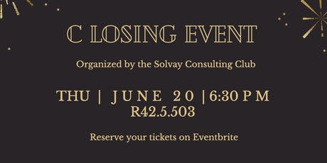 Closing Event: Solvay Consulting Club tickets