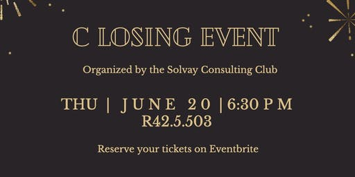Closing Event: Solvay Consulting Club