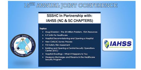 15th Annual Joint Conference SSSHC In partnership with IAHSS NC/SC Chapters tickets