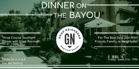 Dinner on the Bayou tickets