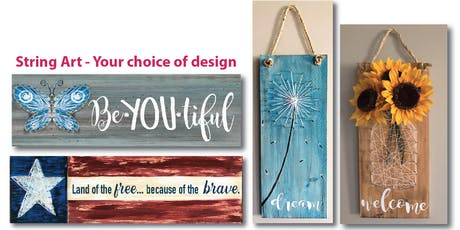 String Art your choice of design Creative Painting Maker Class  tickets