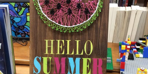 Watermelon String Art (Adult) 6/20 @ 6:30 PM