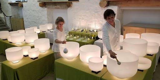 Concert méditatif de bols de cristal - par Sylvie Dugal et Gilles Gauvin