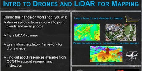 Intro to Drones and LiDAR for Mapping tickets