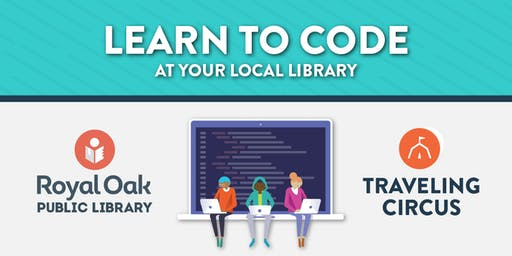 FREE Intro to Coding Workshop at the Royal Oak Public Library