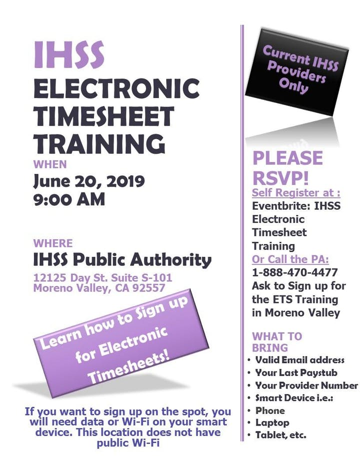 Moreno Valley Electronic Timesheet Training for IHSS Providers - 20