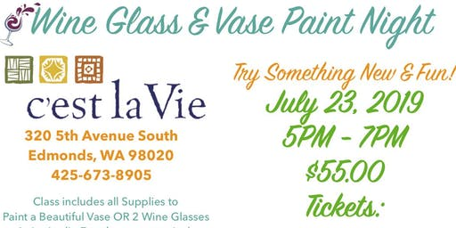 Wine Glass & Vase Painting Night