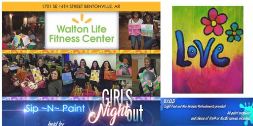 Walmart Associates: Sip'N Paint Girl's Night Out