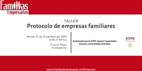 Taller: Protocolo de empresas familiares entradas