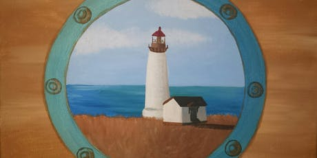 "Adult Open Paint (18yrs+) ""Porthole Lighthouse"" tickets"