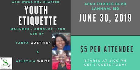Youth Etiquette Event for Young Ladies Ages 12 to 19 tickets