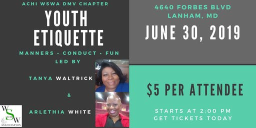 Youth Etiquette Event for Young Ladies Ages 12 to 19