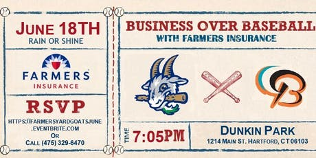 Farmers Insurance Hartford Business Over Baseball tickets