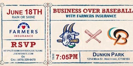 Farmers Insurance Hartford Business Over Baseball tickets