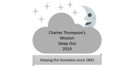 Charles Thompson's Mission Sleep Out 2019 tickets