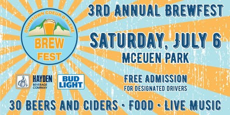 Downtown Coeur d'Alene Brew Fest 2019 tickets