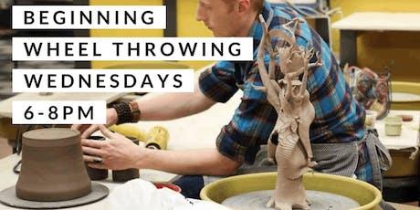 Pottery: Beginning Wheel Throwing - Wednesdays tickets