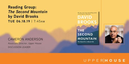 "Reading Group - ""The Second Mountain"" by David Brooks"