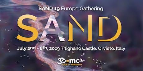 SAND19 Gathering in Italy  biglietti