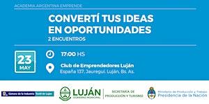 """AAE - Taller """"Desarrollo de Ideas...""""- Luján, Prov. de..."""