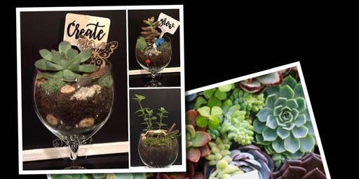 Plant 'n Paint Wine Glass Class at Boring Winery 09/12