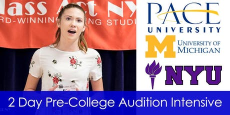 2 Day Pre-College Audition Intensive tickets